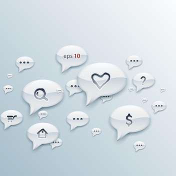 chat vector speech bubbles signs - Free vector #132714
