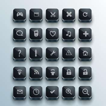 set of web computer icons - vector #132724 gratis