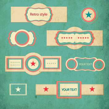 vector retro style set of vintage frames - vector gratuit #132764
