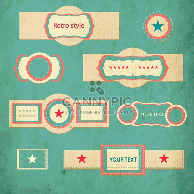vector retro style set of vintage frames - Free vector #132764