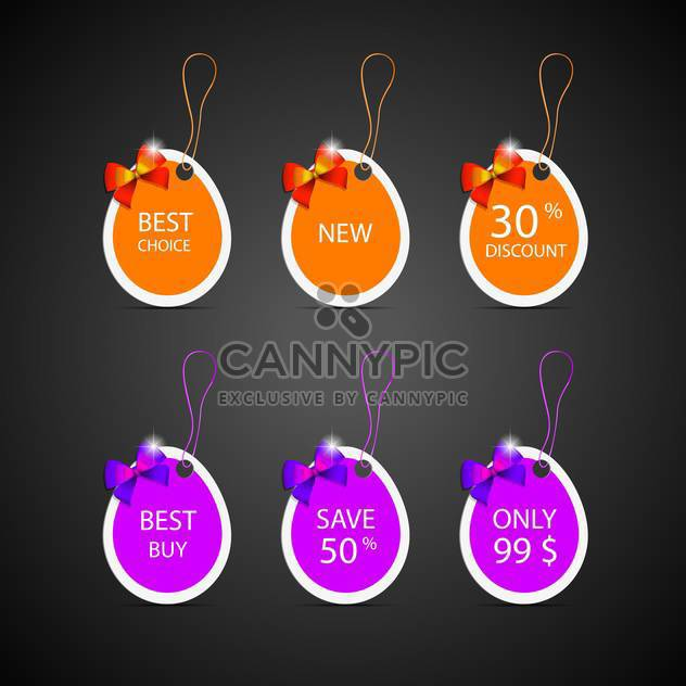 colorful discount labels background - Free vector #132774