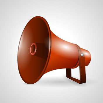 loudspeaker or megaphone vector illustration - vector #132794 gratis