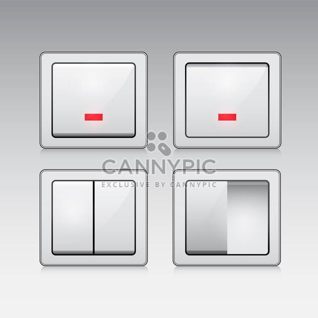 electric switch web vector icons - Free vector #132904