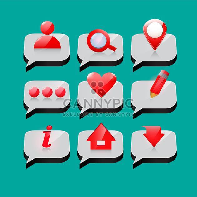web site vector icons set - Free vector #132914