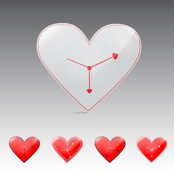 valentine's day time background - vector gratuit #132924
