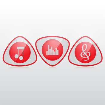 music icons vector illustration - бесплатный vector #132934