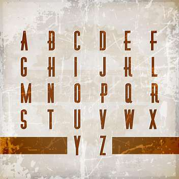 vector alphabet in vintage style - vector #132944 gratis