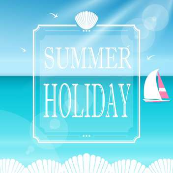 summer holiday vacation banner - бесплатный vector #132964