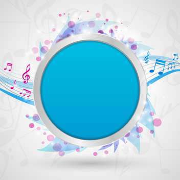 musical notes vector background - vector gratuit #132974