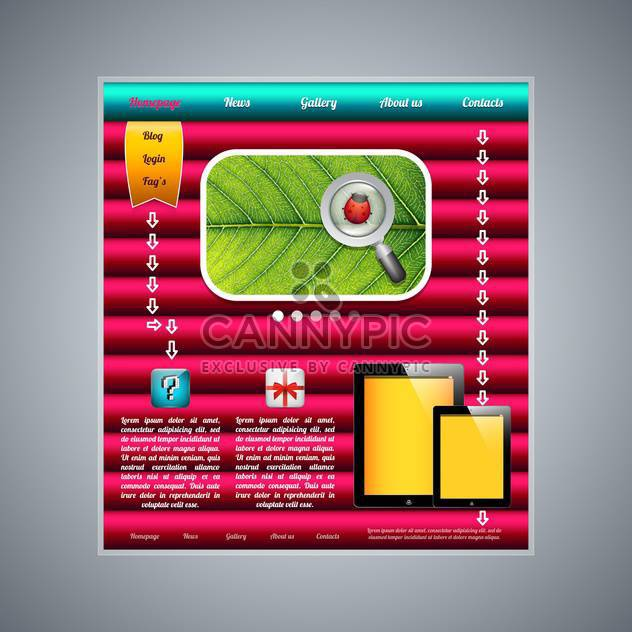 modern web page template background - Free vector #132994