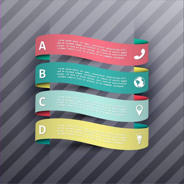 business process steps banners - vector gratuit #133004