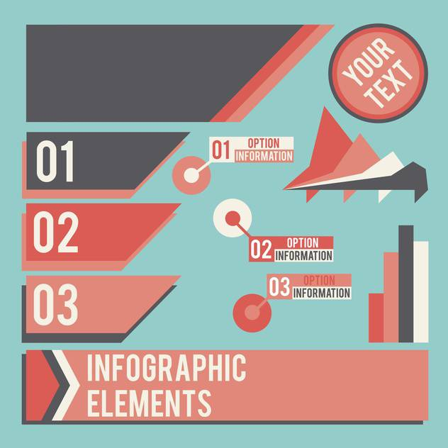 business infographic elements set - vector gratuit #133014
