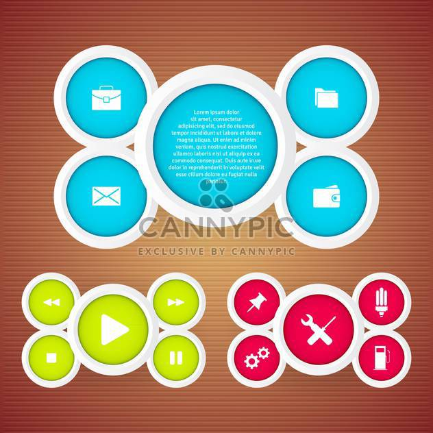 vector set of web buttons - Free vector #133044