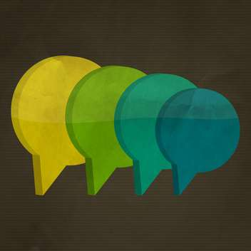 colorful speech bubbles set - vector #133054 gratis