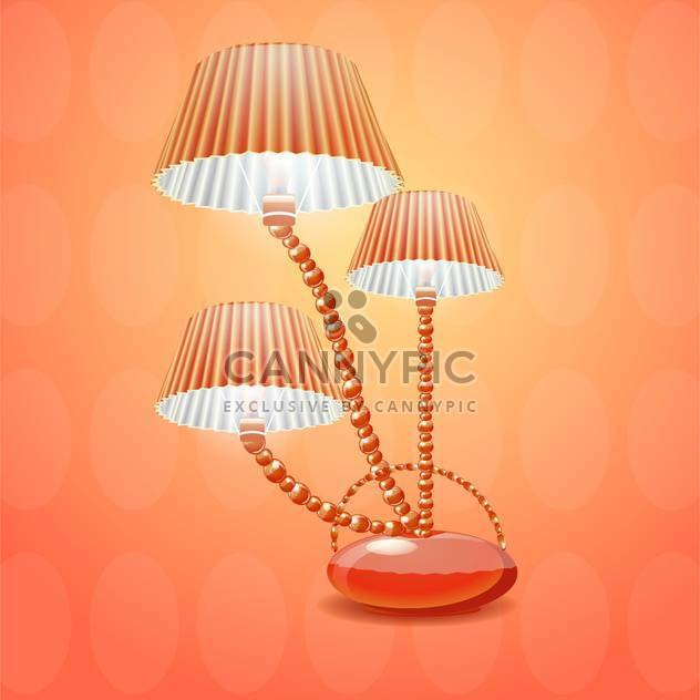 lamp with shade vector illustration - Free vector #133074