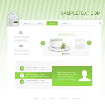 website template for cafe or restaurant - vector gratuit #133124