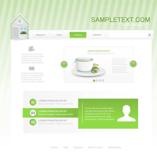 website template for cafe or restaurant - Kostenloses vector #133124