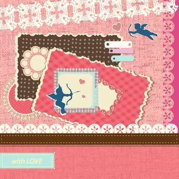 valentine's day scrapbook elements - бесплатный vector #133184