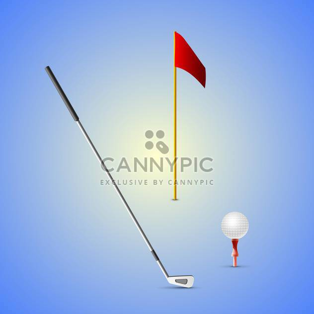 set of golf equipment illustration - Free vector #133204
