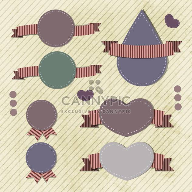 vintage vector frames set background - Free vector #133244