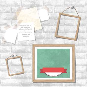 vintage photo frames vector set - vector gratuit #133274