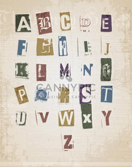 sketched alphabet letters set - Free vector #133314