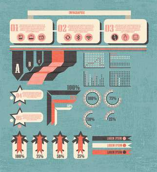 business retro infographics set - vector gratuit #133334