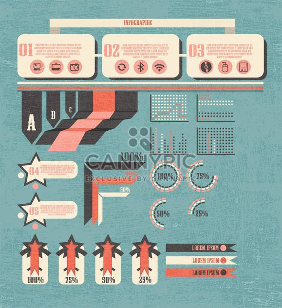 business retro infographics set - Free vector #133334