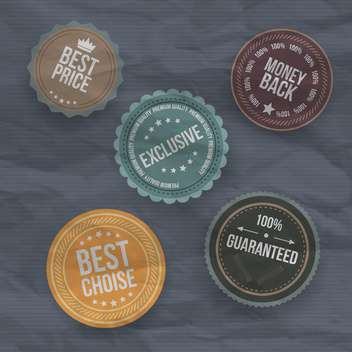 vintage badges and labels background - vector gratuit #133344