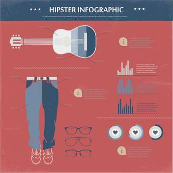 hipster vector infographic set - vector gratuit #133394