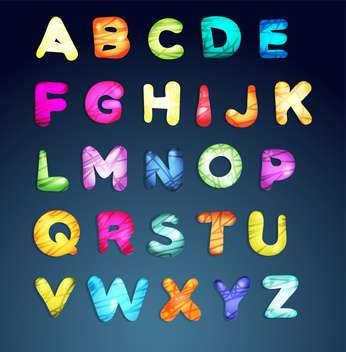 cartoon colorful alphabet letters - vector gratuit #133404