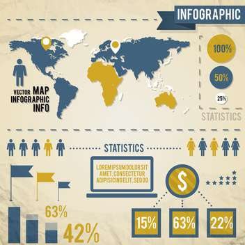 business infographics with human population - vector gratuit #133414