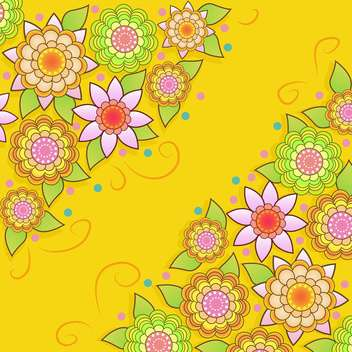 vector summer floral background - vector gratuit #133434