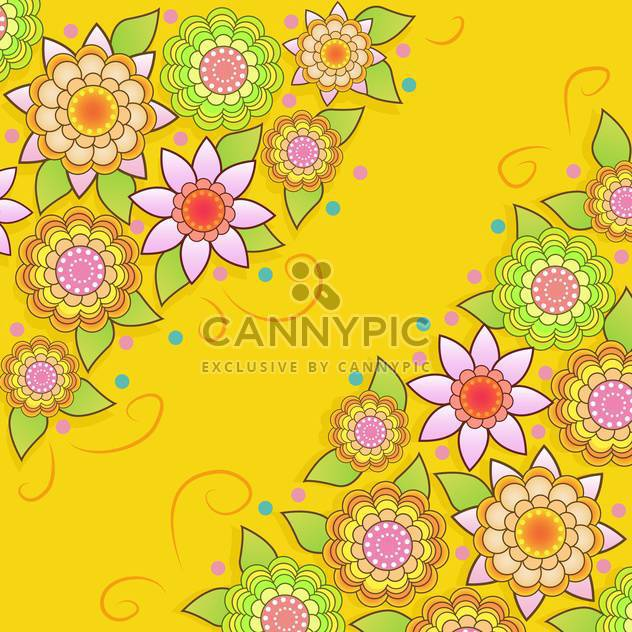 Vector Sommer floral background - Kostenloses vector #133434