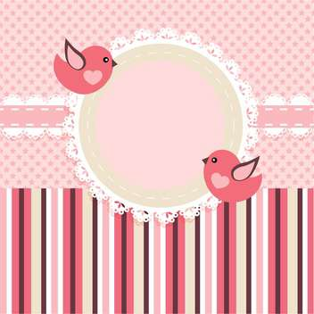vector frame background with birds - vector gratuit #133454