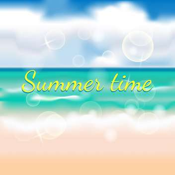 summer time beach background - vector gratuit #133464