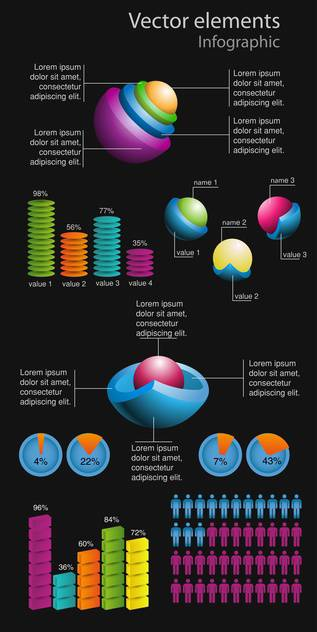 vector elements of business infographics - vector gratuit #133494