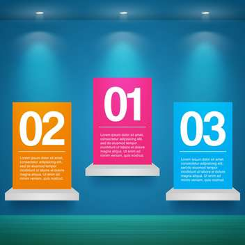 vector set of banners with numbers - Free vector #133544