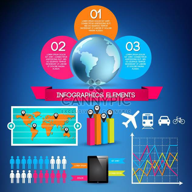 set of business infographic elements - Free vector #133554
