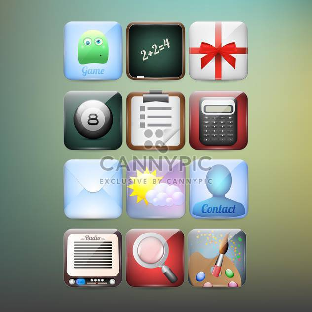 set of vector web icons background - Free vector #133564