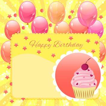 happy birthday vector background - vector gratuit #133624