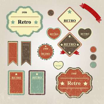 set of vintage frames background - vector gratuit #133634