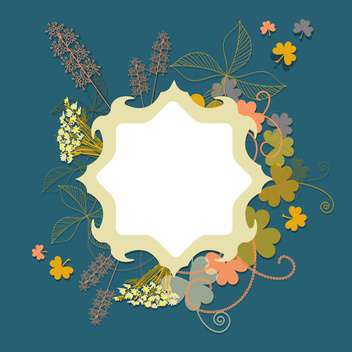 floral vector background template - vector gratuit #133644