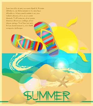 summer holidays vector background - vector #133744 gratis