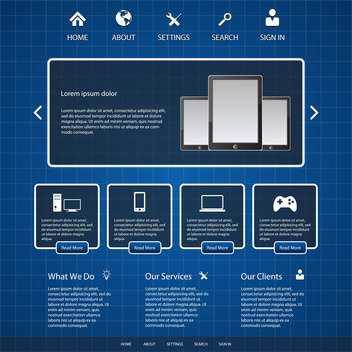 blue website template background - Free vector #133774