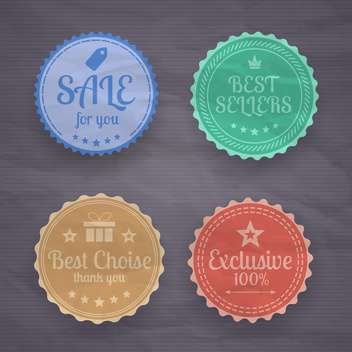 collection of high quality labels - vector gratuit #133884