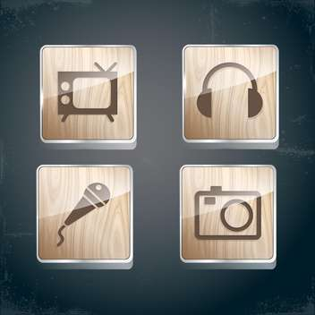 set of photo, video and musical icons - бесплатный vector #133914
