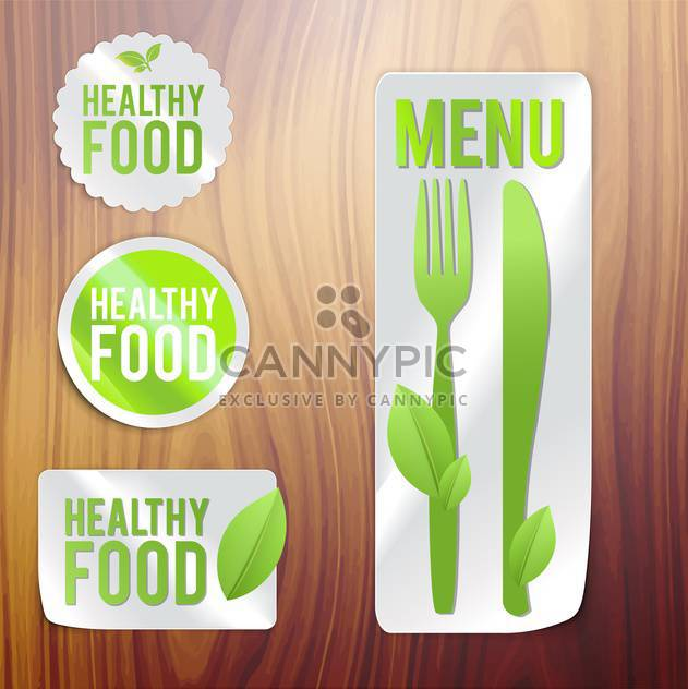 vintage bio and eco products labels - Free vector #133934