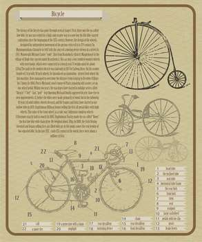 vector background with bicycles illustration - vector gratuit #134014