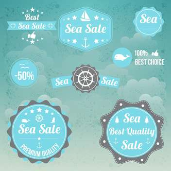 vector set of sea emblems - vector gratuit #134024